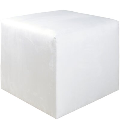 Premier Cube Ottoman Color: White
