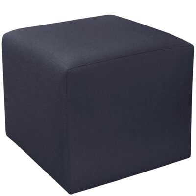 Cube Ottoman Upholstery: Navy