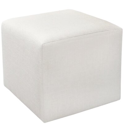 Cube Ottoman Upholstery: White