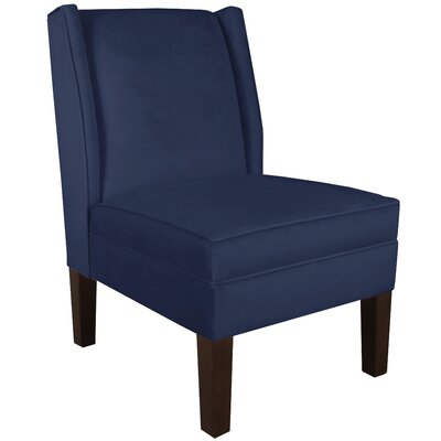 Wingback Chair Upholstery: Regal Patriot Blue