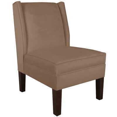 Velvet Wingback Chair Color: Cocoa