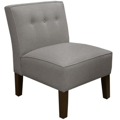 Garden Slipper Chair Upholstery: Linen Grey
