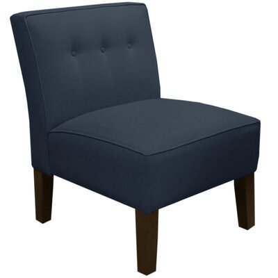 Garden Slipper Chair Upholstery: Linen Navy