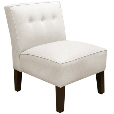 Garden Slipper Chair Upholstery: Linen Talc