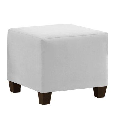 Premier Cube Ottoman Upholstery: White