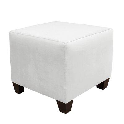 Square Ottoman Color: White