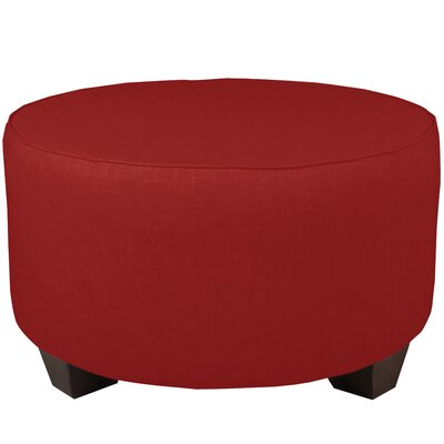 Round Cocktail Ottoman Color: Antique Red