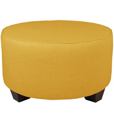 Round Cocktail Ottoman Color: French Yellow
