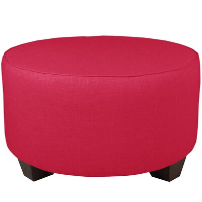 Round Cocktail Ottoman Color: Fuchsia