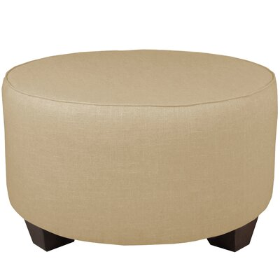 Round Cocktail Ottoman Color: Sandstone
