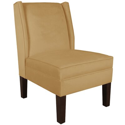 Wingback Chair Upholstery: Velvet Honey