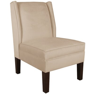 Velvet Wingback Chair Color: Pearl