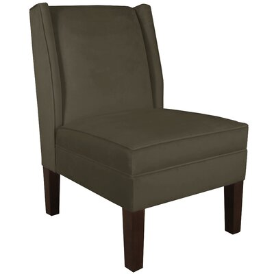 Wingback Chair Upholstery: Velvet Pewter