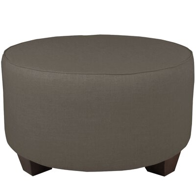 Twill Round Cocktail Ottoman Upholstery: Gray