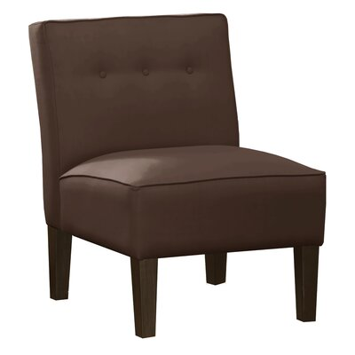 Regal Armless Slipper Chair Color: Chocolate