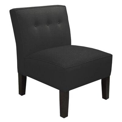 Garden Slipper Chair Upholstery: Twill Black