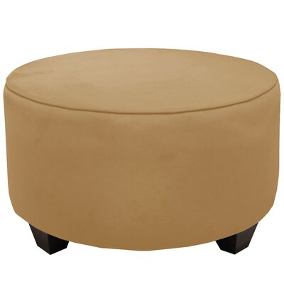 Round Cocktail Ottoman Color: Honey