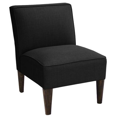 Linen Slipper Chair Color: Black