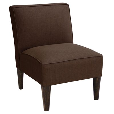 Linen Slipper Chair Color: Chocolate