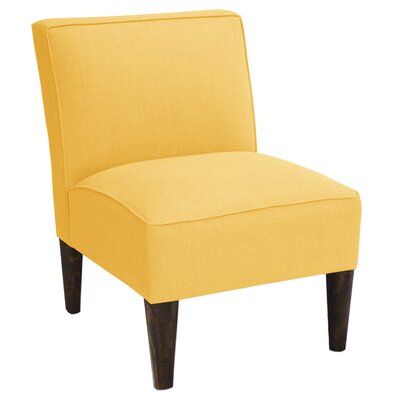 Linen Slipper Chair Color: French Yellow