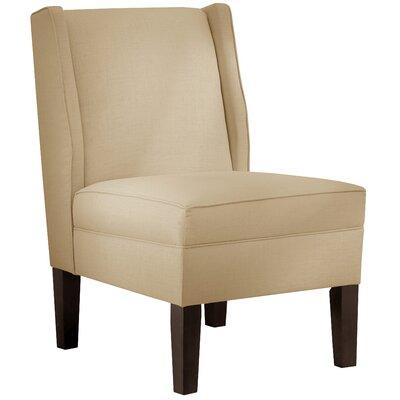 Velvet Wingback Chair Color: Sandstone