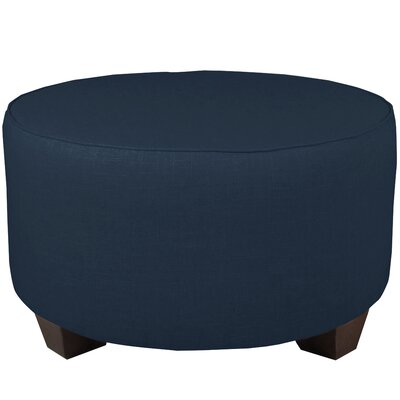 Round Cocktail Ottoman Color: Navy