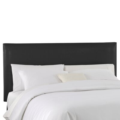 Classico Slipcover Upholstered Panel Headboard Color: Black, Size: Queen