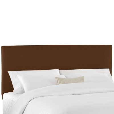 Duck Slipcover Upholstered Panel Headboard Color: Chocolate, Size: Queen