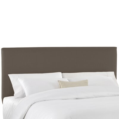 Duck Slipcover Upholstered Panel Headboard Color: Charcoal, Size: Queen