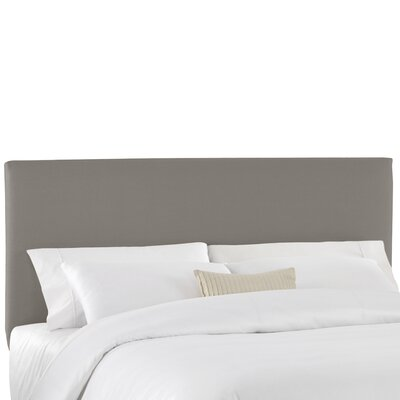 Duck Slipcover Upholstered Panel Headboard Color: Gray, Size: Queen