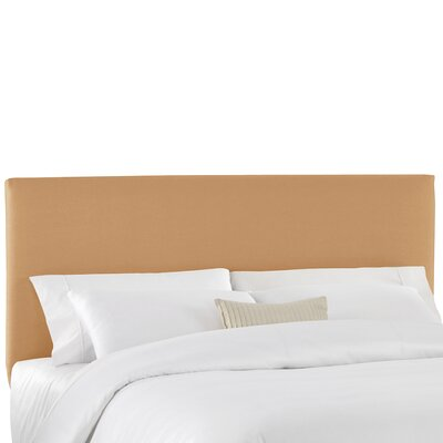 Duck Slipcover Upholstered Panel Headboard Color: Khaki, Size: Twin