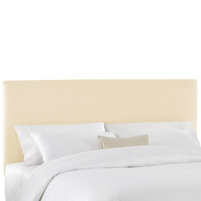 Duck Slipcover Upholstered Panel Headboard Color: Natural, Size: King