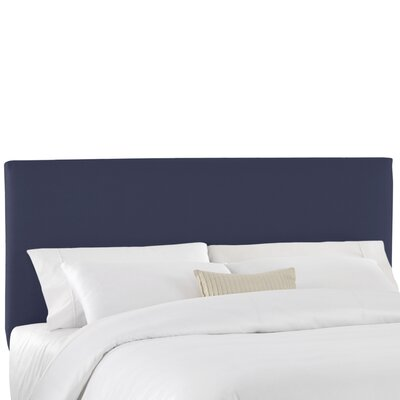 Duck Slipcover Upholstered Panel Headboard Color: Navy, Size: Queen