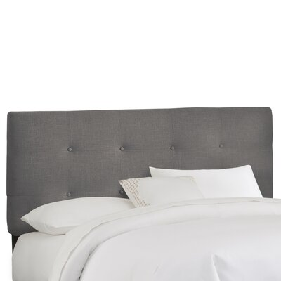 Tufted Upholstered Panel Headboard Upholstery: Navy, Size: Full