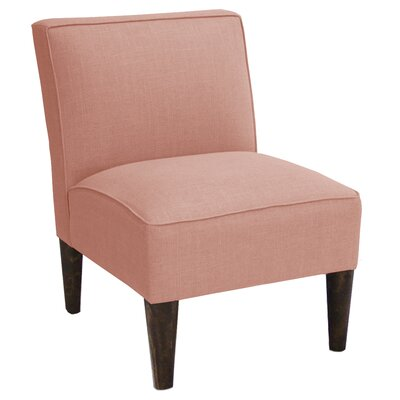 Linen Slipper Chair Color: Petal