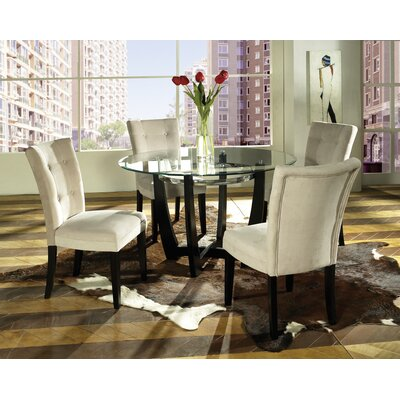 Baldwin Parsons Chair (Set of 2) Upholstery: Beige