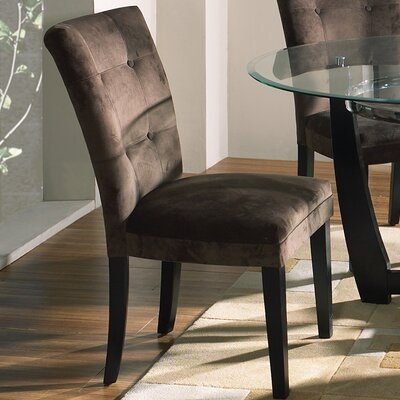 Maynor Side Chair (Set of 2) Upholstery: Chocolate