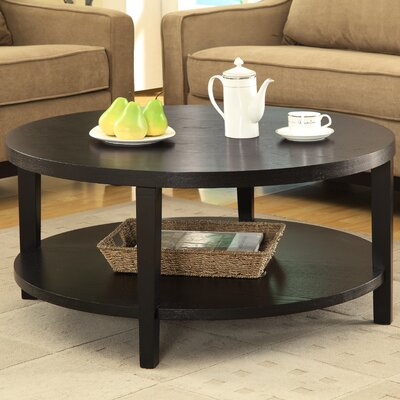 Fabiano Round Coffee Table Finish: Black