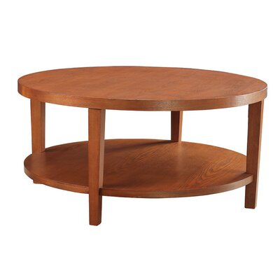 Fabiano Round Coffee Table Finish: Cherry