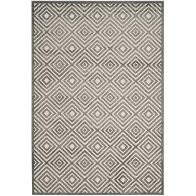 Mcgruder Cream/Gray Indoor/Outdoor Area Rug Rug Size: 67 x 96