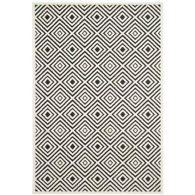 Woodford Cream/Anthracite Indoor/Outdoor Area Rug Rug Size: Rectangle 53 x 77