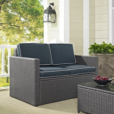 Brayden Studio Palm Harbor Loveseat with Cushion