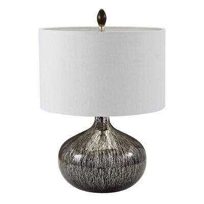 McLean Mercury Glass Table Lamp Base Finish: Silver mercury/black mercury