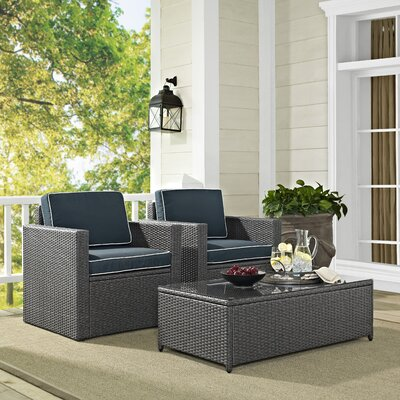 Crosson 3 Piece Deep Seating Group with Cushions