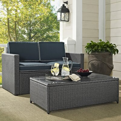 Palm Harbor 2 Piece Deep Seating Group with Cushion