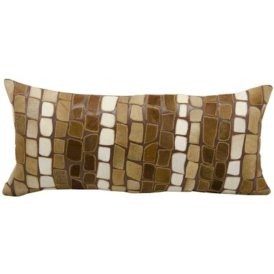 Natural Leather Hide Lumbar Pillow