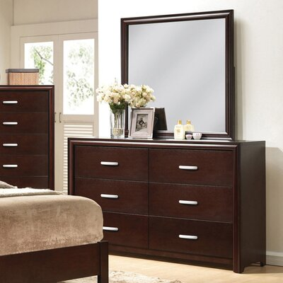 Medellin 6 Drawer Double Dresser with Mirror
