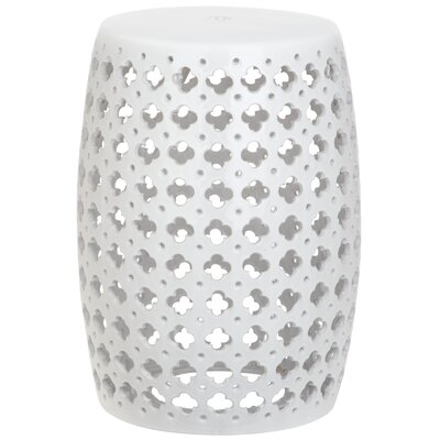 Lacey Garden Stool Color: White