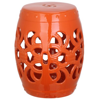 Morel Garden Stool Color: Orange