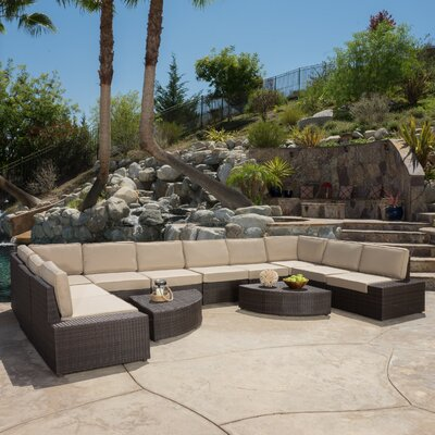 Mariscal 12 Piece Deep Seating Group with Cushions Color: Beige